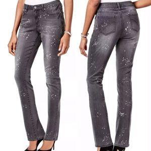 Gray Paint Splatter Skinny Leg Jeans! NEW!